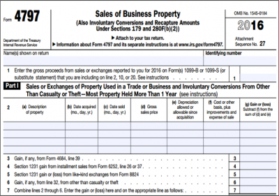 Form 4797 – Sale of Assets: The Good, The Bad and The Ugly
