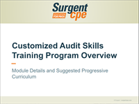 Surgent Audit Skills Training Program Overview