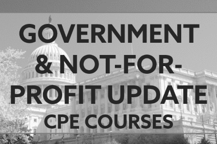 Government and Not-for-Profit Update CPE Courses