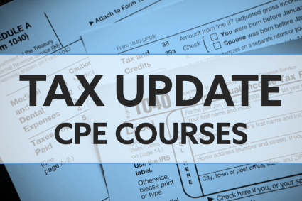 Tax Update CPE Courses